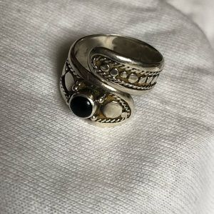 Sterling ring with onyx 925 size 6
